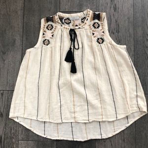 Cost Plus World Market embroidered blouse